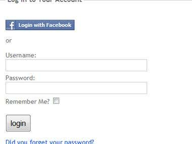 Facebook Login or Connect Facebook