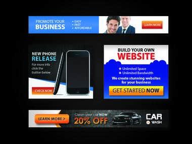 Banner ads designs