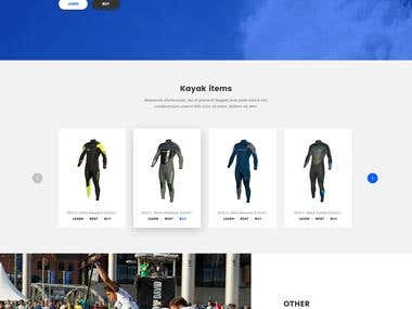 Surfing website design