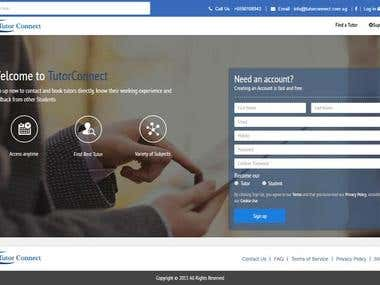 Online tutorial website built in Laravel