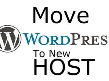 wordpress site transfer