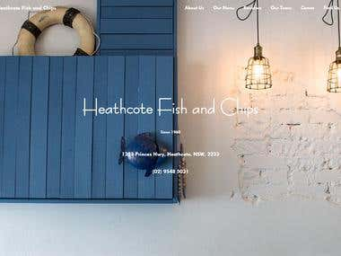 Heathcote Website built in ReactJS