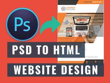 PSD to HTML or Website Design