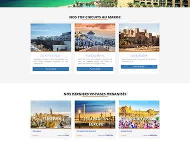 Azura tours voyages agency - web site