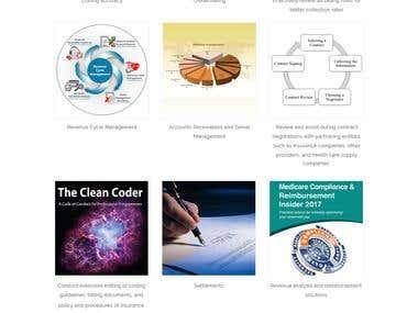 One Page WordPress Site design