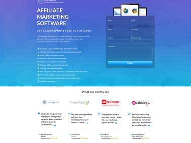 Affiliate landing Page