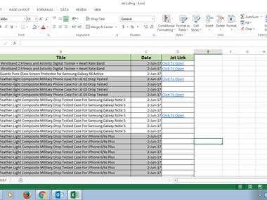 JET Variation Listing