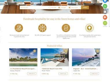 Developed villa website on wordpress