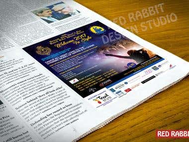 Graphic design for an event ROCOBA