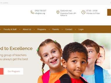 Website with school management system
