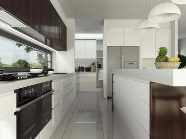 3D kitchen + bathroom