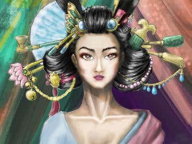 Geisha digital art