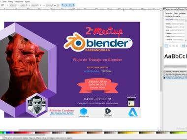 Advertising Campaign - 2do. Meetup Blender Barranquilla