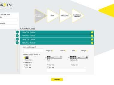 Nice web pages with custom Accordion and Navigation bar
