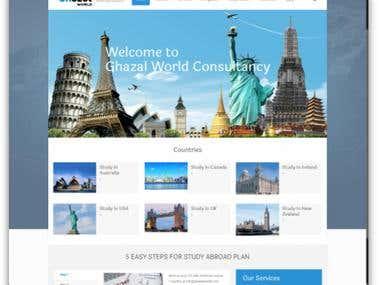 Ghazal Consultancy - Website Creation