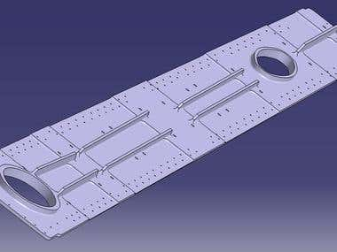 Fixed Wing Aircraft part modeled in CATIA V5