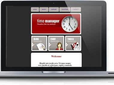Time Manager Website