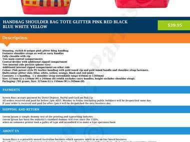 eBay listing template and ebay Store design, M2e, Responsive