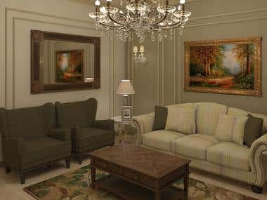 neoclassic living room