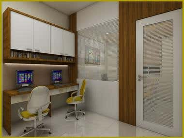 Office interior renderings