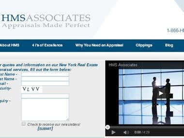 HMS Associates New York Real Estate Appraiser HTML5, jQuery,