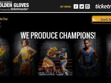Golden Gloves Core PHP, HTML5, jQuery, MySQL, Responsive