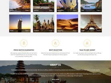 Developed website for providing tour package detail.