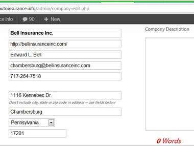 Auto insurance data collection and research
