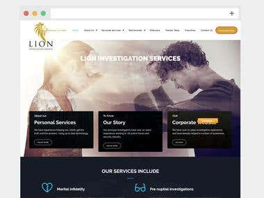 Lion Investigation - Wordpress