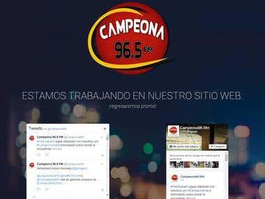 Campeona 96.5 FM sitio web en Wordpress