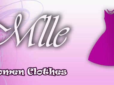 design logo Mlle Clothes shop