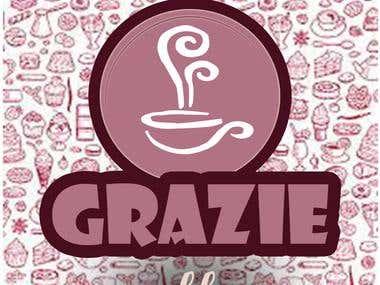 design 3 for logo Grazie cafe