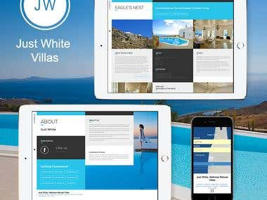 Just White Villas Website