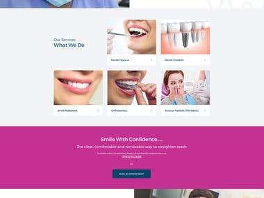 Dental website.