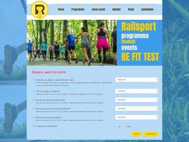 Railsport Be Fit Test - Survey Website