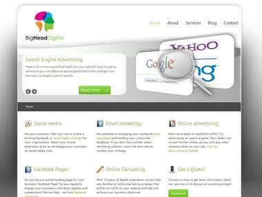 Website Design: BigHead Digital
