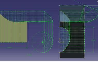 Development of Reducing Tee model using Aluminium unfolding