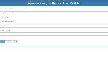 Angular Reactive Form Validation