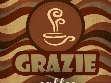 design 2 for logo Grazie cafe