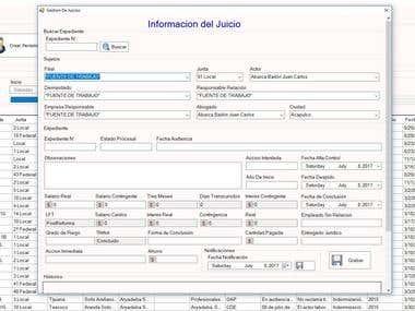 Software para aministración de Juicios