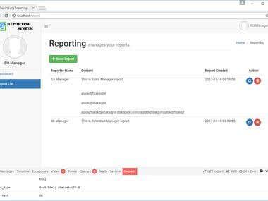 Laravel Reporting System