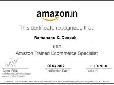 Amazon Trained E-Commerce Specialist