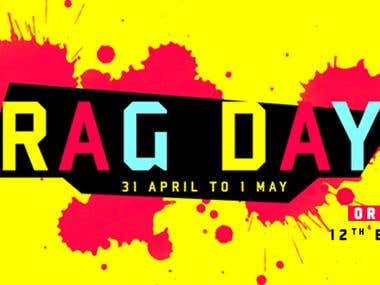Rag Day Banner design