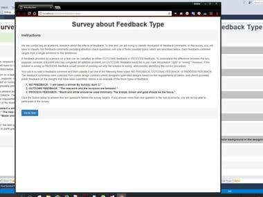 Website to conduct a survey