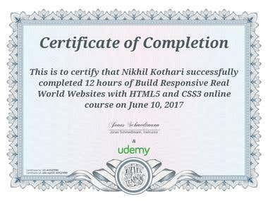 Web Developer Certification