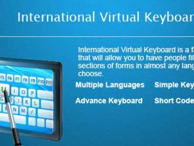 International Vertual Keyboard ( Wordpress plugin )