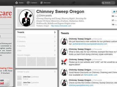 Custom Twitter Page - Chimney Sweep
