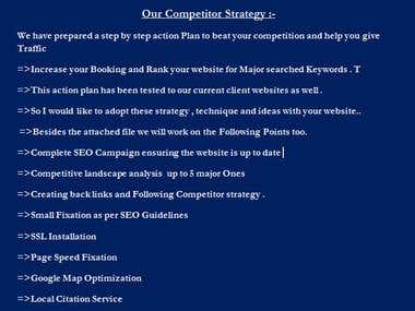 Action Plan to beat your competition on Google
