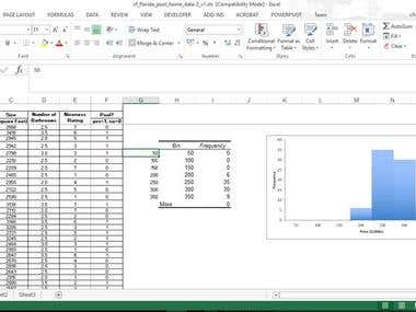 Data Analysis using Graphical representation in Excel