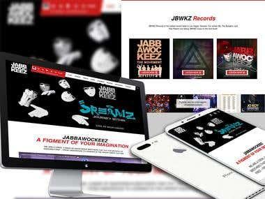 Jabbawockeez - Website and Online Store